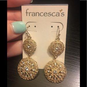 Francesca's NWT Filagree Dangle Earrings